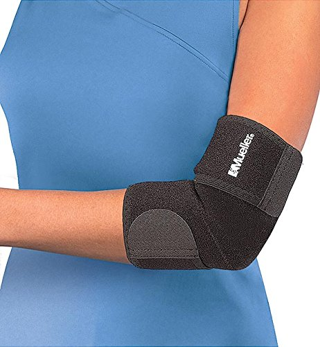 Mueller Adjustable Elbow Support, Neoprene, Black, One Size Fits Most